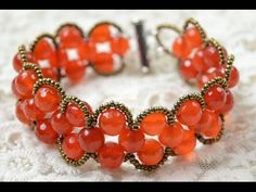 Video: How to Make an Easy Beaded Double Wave Bracelet with Agate Beads. #Seed #Bead #Tutorials