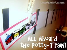 Potty-training motivation for train-lovers!