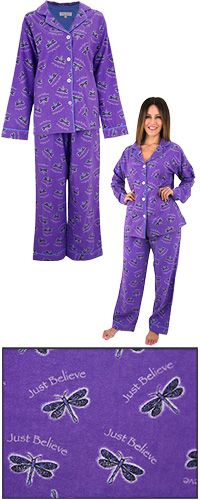 Just Believe Dragonfly Flannel Pajama Set at The Animal Rescue Site