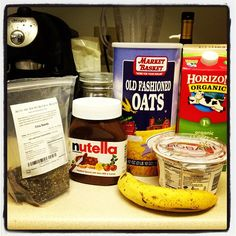 nutella overnight oats ingredients
