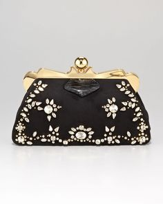 9d56795652b3 Miu miu Embellished Framed Clutch Bag - Lyst Miu Miu Handbags