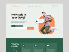 EasyTravel - Travel guide website by Abdur rafi Joy on Dribbble Travel Guide, Joy, Website, Colors, Design, Travel Guide Books, Glee, Colour