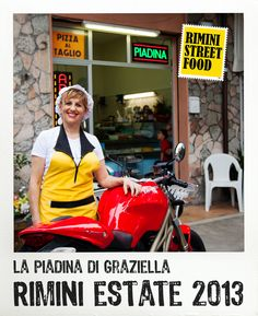 La Piadina di Graziella #rimini #food #streetfood #ducati
