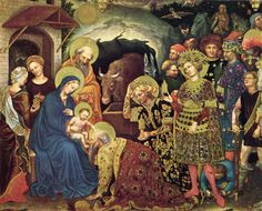 much larger version: Gentile da Fabriano (Early Italian Renaissance artist, c 1370-1427) Adoration of the Magi