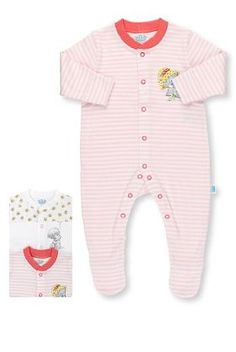 3 Pack Pure Cotton Tatty Teddy Floral Sleepsuits