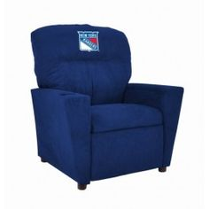 New York Rangers NHL Kids/Childrens Recliner Chair Furniture
