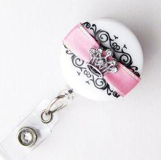 Fairy Princess - Bling Crown - Pretty Badge Reels - Unique Badge Holder - Stylish Name Badge Clip - Nurse Jewelry - BadgeBlooms