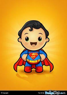 Superman Kawaii character Design By Designwolf. Dark Knight Wallpaper, Cartoon Caracters, Superman Party, Superhero Cartoon, Grace Art, Kids Background, Dog Halloween Costumes, Comic Book Characters, Fabric Painting