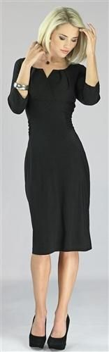 Modest dresses, dresses with high necklines and knee length hems are meeting appropriate Shelby R