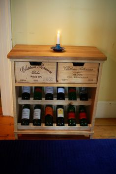 Amazing wine crate creations from Bois Rustique! https://www.etsy.com/listing/166367802/handmade-rustic-wine-rack?ref=shop_home_active_3