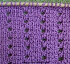 Tunisian Crochet-Medium Open Windows Stitch Pattern