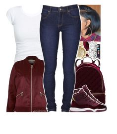 """12/29/2016"" by yeauxbriana ❤ liked on Polyvore featuring Ray-Ban, Forever New, River Island, MICHAEL Michael Kors and Dr. Denim"