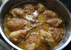 Mustáros hagymás csirke recept foto
