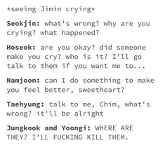 The whole world would come to jimins defense