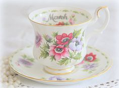Vintage Royal Albert Bone China 'Flower of the by TalesFromThePast