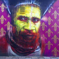 """""""Street Art by @dale_grimshaw #instagrafiti #urbanart #graffitiart #globalstreetart #streetarteverywhere #wallart #streeartists #urbanstyle #ukstreetart…"""""""