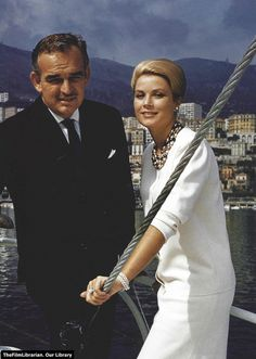 Princess Grace and Prince Rainier, 1963 [now parents of two young children]