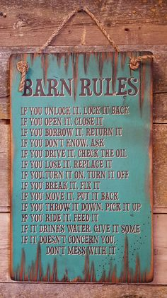 Barn rulesy