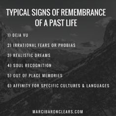 Do you ever wonder if you experienced a past life? Learn how to tell with 6 typical signs of remembrance of a past life. Past Life Regression, Psychic Development, Akashic Records, Thing 1, Psychic Abilities, Empath Abilities, Soul Searching, Phobias, Spiritual Awakening