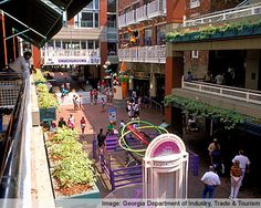 Underground Atlanta is a group of businesses in downtown Atlanta, Georgia that combine shopping and entertainment for locals and travelers alike. Located in the Five Points neighborhood of Atlanta, it is conveniently  near the intersection of the MARTA rail lines.