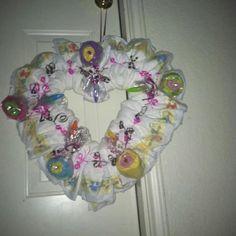 Heart Baby Wreath