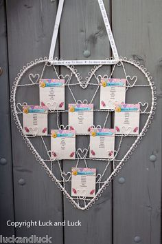 Wedding Table Plan Cream Metal Vintage Shabby Style Heart Card / Photo Holder L | eBay
