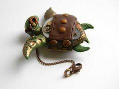 steampunk Sea Turtle by Hannah Hill