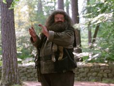 """""""Kind, incredibly loyal, and truly terrible at cooking. Happy birthday to the gentlest half-giant, Rubeus Hagrid! Harry Potter Facts, Harry Potter Characters, Harry Potter Hogwarts, Hermione, Draco Malfoy, Hogwarts Christmas, Rubeus Hagrid, Fantastic Beasts And Where, Film Books"""