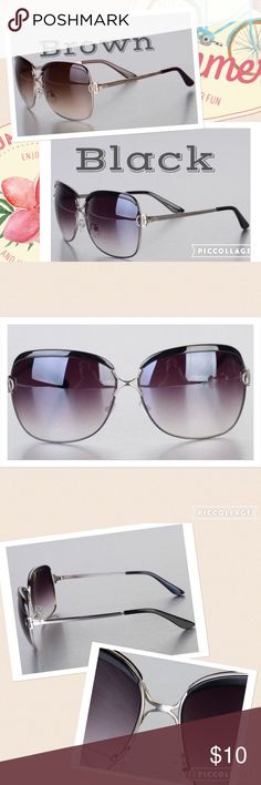 Sunglasses Brand new. Do not purchase this listing black and brown available. Let me know which you want and will create listing larger frames. Off brand... But good quality. Price is firm unless bundled Accessories Glasses