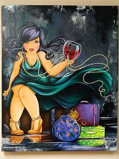 Risultati immagini per isabelle desrochers peinture Renoir, Plus Size Art, Fat Art, Wine Art, Illustration, Isabelle, Fat Women, Black Women Art, Cartoon Pics