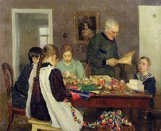 Sergey Vasilievich Dosekin (Russian, 1869 - 1916), Preparation for Christmas, 1896 by sofi01, via Flickr