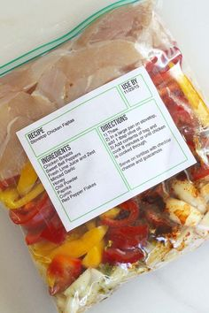 Download free labels you can edit, print, and save to use on your freezer meals.