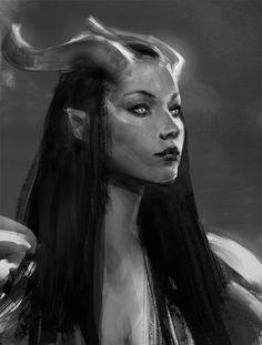 9d11cd15a74851de08bc9b82bf27fcb1--fantasy-horns-fantasy-art.jpg (540×713)