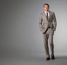 J Hilburn - Light Brown Multi-Plaid Suit  nancy.plummer@jhilburnpartner.com