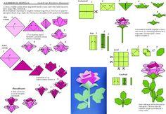 Origami egyszerűen - Képgaléria - Diagrammok - Virágoskert Flowers garden - Kisherceg rózsája