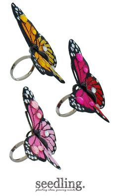 Little, magical butterfly rings.