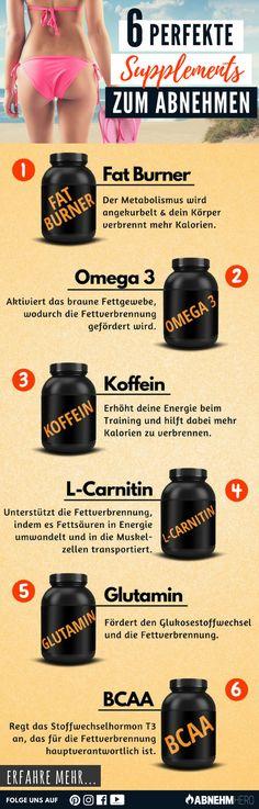6 pefekte Supplements zum Abnehmen
