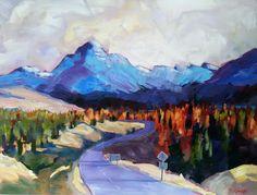 Road to Mount Cook 100cm x 76cm www.paulinegough.com Mount Cook, Medium Art, Mixed Media Art, Painting, Painting Art, Paintings, Mixed Media, Drawings