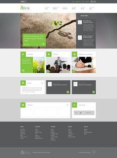 Tiled Layout Website Layout | Web Design