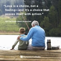 """""""Love is a choice, not a feeling-- and it's a choice that proves itself with action."""" -From Dynamic Catholic's DECISION POINT confirmation program Catholic Doctrine, Catholic Quotes, Daily Quotes, Life Quotes, Wisdom Quotes, Catholic Daily Reflections, Dynamic Catholic, Love Is A Choice, Motivational Quotes"""
