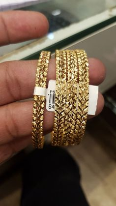 Gold Jewelry In Italy Jewelry Design Earrings, Gold Earrings Designs, Bracelet Designs, Jewellery, Plain Gold Bangles, Gold Bangles Design, Bangle Box, Bangles Making, Gold Jewelry Simple