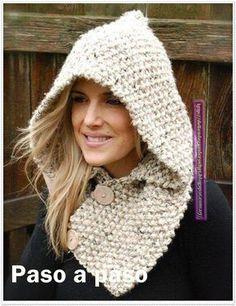 Ideas para el hogar: Capuchas dos agujas y crochet Más