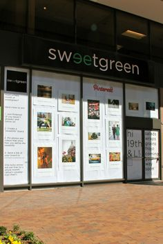 #CONTEST - PIN IT TO WIN IT: HOW TO WIN A FREE MONTH OF SWEETGREEN ON PINTEREST (Nice store front display)