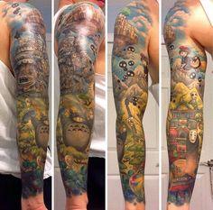 Top 25 des tatouages Miyazaki beaucoup trop cool, le studio Ghibli dans la peau