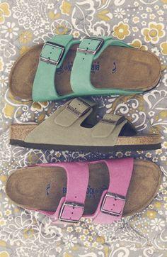 Birkenstock 'Arizona' Soft Footbed Suede Sandal (Women) | Nordstrom