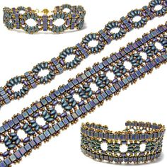 bead patterns | bottom) cube beads and two colors of Preciosa Twin beads. The pattern ...
