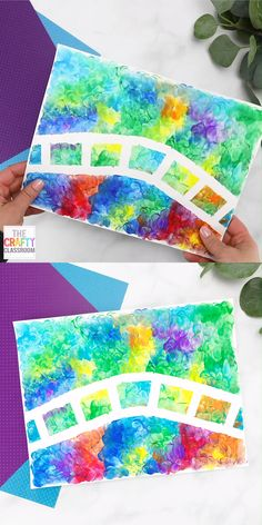 Claude Monet is well known for his beautiful water scenes! This Monet Art Project for Kids is a fun (and messy) finger painting craft that will leave children with beautiful results. The materials used are art sharpie Monet Art Project for Kids Art Lessons For Kids, Art Activities For Kids, Art Lessons Elementary, Projects For Kids, Kids Crafts, Art For Kids, Art Crafts, Art Projects For Kindergarteners, Children Art Projects