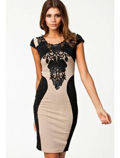 Elegant Floral Embroidery Bodycon Patchwork Midi Party Dress | buy sexy Club Dresses ,  Club wear online in india | StringsAndMe