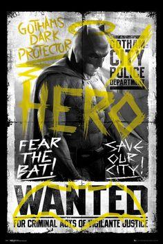 Batman Vs Superman Batman Wanted - Official Poster