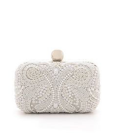 box clutch with embroidered beading